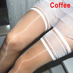Oil Shiny High Glossy Hosiery Nylon Hold Up Socks Tights Thigh High Stocki IS
