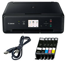 Spar Set Canon Pixma TS-5050 DRUCKER SCANNER KOPIERER WLAN + 5x XL TINTE + USB