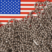 """Lot of 15 Stainless Steel 24"""" Ball Chain Necklaces, 2.4mm Bead, MADE IN USA"""