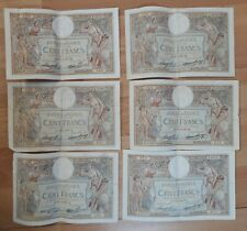 100 FRANCS MERSON de 1937  - LOT de 6 BILLETS  FRANCAIS -