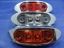 "GCD 2"" Marker / Clearance Lights RED /AMBER and CLEAR LENS LIFETIME WARRANTY"