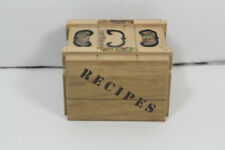 Vintage Fitz and Floyd Wooden Recipes Box Vtg Japan