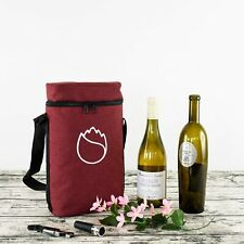 Insulated Wine Tote Bag for 2 Bottles  Each Carriers Christmas GIFT UK