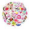 50PCS Kwaii Cartoon Pink Flamingo Stickers Decals Car Skateboard Laptop Luggage!