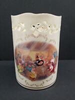 Disney Lenox The Snow White Votive Fine China 24k Gold Porcelain Decor