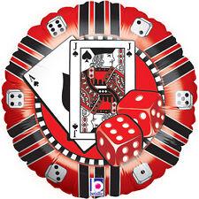 """Oaktree Betallic 18"""" Casinò Chip Palloncino Festa Di Compleanno Decorazione Casino Las Vegas"""