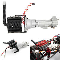 KYX V8 Engine 2 Speed Gearbox + Radiator Fan for Axial SCX10 II 90046 RC Crawler