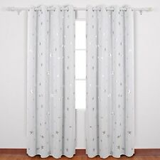 Deconovo Star Foil Thermal Insulated Eyelet Ready Made Blackout Curtains For