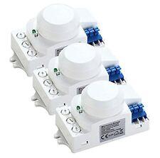 3X HF Sensor, Bewegungsmelder 360°, 10m Reichweite, Mikrowellen-Bewegungsmelder