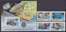 """St. Lucia - 1983 """"World Communications Year"""" (MNH)"""