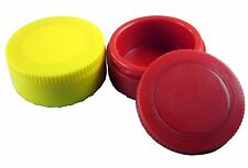 "2PK Insulated Bait Puck 3""x1-3/8"" Wax Worms Storage Mousies Ice Fishing Storage"