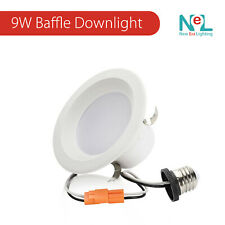 """4-72 X 4"""" inch 9W LED Retrofit DownLight Baffle Recessed Dimmable Can Light"""