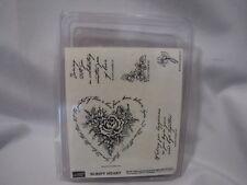 Stampin Up Script Heart Stamp Set Wedding Theme Love Hope Believes Flowers Rose
