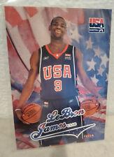 2003-04 Fleer USA Basketball LeBron James Rookie Card #USAB