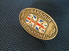 A GENUINE LIMITED EDITION  BARBOUR INTERNATIONAL GB PIN BADGE