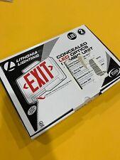 Lithonia Lighting Concealed Polycarbonate Led Optics Exit Signemergency E4