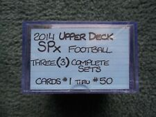 (3)2014 UPPER DECK SPX FOOTBALL COMPLETE SET 1-50 LOT-NAMATH,BREES,MANNING,BO!