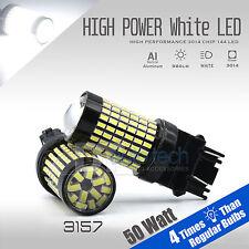 2X 1000 Lumens 3157 50W High Power 6000K White Backup Reverse LED Lights Bulbs