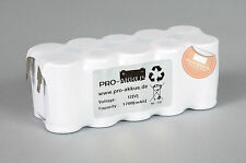 NiCd 12V 1700mAh 1,7Ah Akkupack Notlicht Notbeleuchtung Ni-Cd Faston Anschlüsse