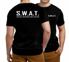 Mens Womens Unisex Military Swat Police Costume T-shirt Student Night Party Stag