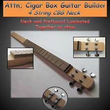 Cigar Box Guitar.Neck Kit, Hardwood Neck 4 -string. DIY