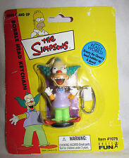 "KRUSTY THE CLOWN BobbleHead Key Chain Sealed NOS 2002 The Simpsons 3"" Basic Fun"