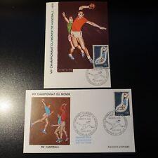Andorra French N°201 Handball Card Maximum + Letter Premier Day FDC 1970