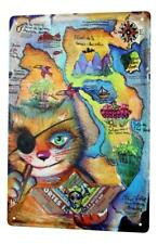 Tin Sign Cat Breed Country map