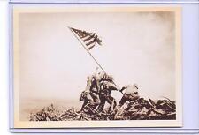 VINTAGE US SOLDIERS RAISING FLAG IWO JIMA WAR ADVERTISING REPRODUCTION POSTCARD