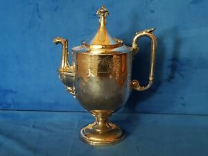 Reed and Barton Vintage Antique? Silver Plate Tea Coffee Pot Pat April 18 1871