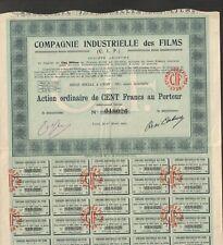 CIF, Compagnie Industrielle des Films (LYON 69) (I)