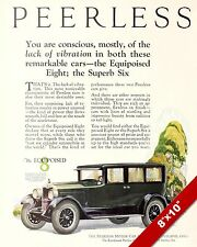 PEERLESS MOTORS CLASSIC AMERICAN MADE CARS PAINTING VINTAGE '25 CAR AD ART PRINT
