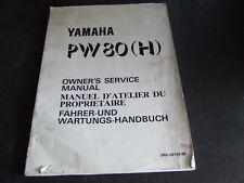 Yamaha PW80H PW80 H PW 80 1996 Model Genuine Workshop Service Manual