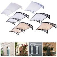 """40x40"""" 80x40"""" Seamless Window Awning Front Door Shade Outdoor Patio Cover Canopy"""
