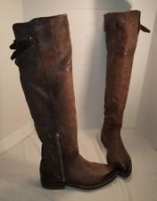 NEW FREE PEOPLE AS 98 ROYCE BROWN LEATHER OVER THE KNEE BOOTS US 8 EUR 38