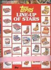 Topps LINE-UP OF STARS Bubblegum Card  Vintage Dealer sell sheet  GARBAGE PAIL