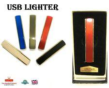 ELECTRIC LIGHTER Flameless Plasma Cigarette Metal USB Lighter Gift 013 RANDOM