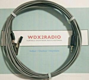 Shortwave & FM Antenna for Portable Shortwave & FM Radios EZ w/bare end & Clip