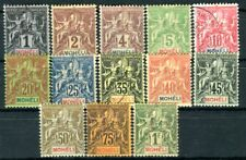 MOHELI 1906 Yvert 1-14 meist sauber * , zwei Werte gestempelt 280€(D7658
