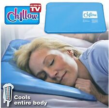 New CHILLOW Pillow Bedding Cooling Pad Device Insert Comfort Sleeping Therapy