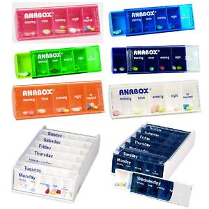 Daily Pill Box Organiser Medicine Tablet Large Storage Dispenser 7 Day Week UK