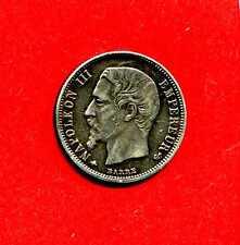 (F.28) DEMI-FRANC NAPOLEON III 1859 BB (STRASBOURG)  (TTB+ / SUP) ASSEZ RARE