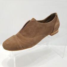 Crown Vintage Jan Brown Leather Nubuck Loafer Flats Slip On Size 6.5M