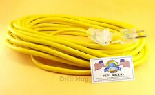 Drill Hog USA 12/3 Extension Cord 50' Foot Gauge LIGHTED ENDS Lifetime Warranty