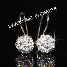 SALE Bridesmaid  8mm White Gold Filled Earrings made with Swarovski Crystal E408