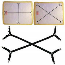 2X Adjustable Bed Mattress Sheet Clips Grippers Straps Suspender Fastener Holder