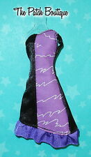 MONSTER HIGH COLOR ME CREEPY DOLL OUTFIT REPLACEMENT BLACK PURPLE DRESS ONLY