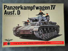 Vintage & rare 1/48 Bandai  WW2 German Panzer IV Ausf.D Medium Tank model kit