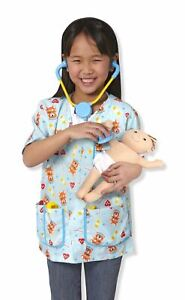 Kids Melissa and Doug Pediatric Nurse Fancy Dress Costume Pretend Play Age 3-6