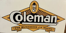 TWO (2) NEW COLEMAN SUNSHINE OF THE NIGHT STICKER DECAL LANTERN STOVE LARGE REPL